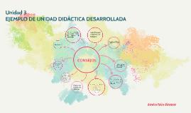 EJEMPLO DE UNIDAD DIDÁCTICA DESARROLLADA
