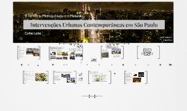 Intervenções Urbanas Contemporâneas em São Paulo