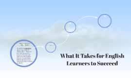 What It Takes for English Learners to Succeed