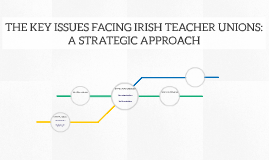 THE KEY ISSUES FACING IRISH TEACHER UNIONS: A STRATEGIC APPR