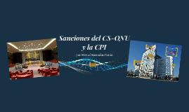 Sanciones del CS-ONU y la CPI