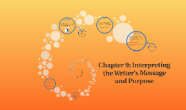 Chapter 9: Interpreting the Writer's Message and Purpose