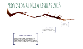 Provisional NCEA Results 2015