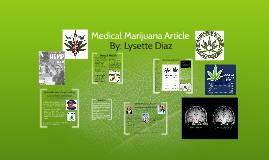 Medical Marijuana Article
