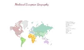 Medieval European Geography