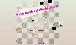 Major Battles of World War II (2016-2017)