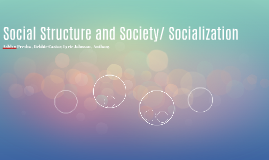 Social Structure and Society/ Socialization