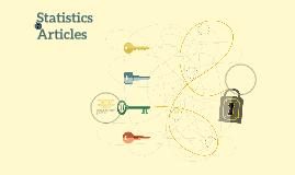 Statistics Articles