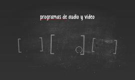 programas de audio y video