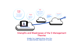 Strengths and weaknesses of the 5 management theories