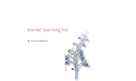 Internet Searching Test