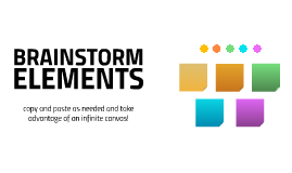 Template brainstorm elements
