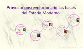 Proyecto posrevolucionario,las bases del Estado Moderno.