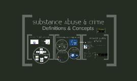 Substance Abuse & Crime (Spring 2018): DEFINITIONS AND CONCEPTS