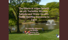 The Effects of Algae Growth on pH, Turbidity, Nitrates, Sali