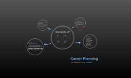 Career Planning - self assessment, plan of action