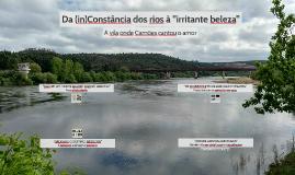 "Da (in)Constância dos rios à ""irritante beleza"""