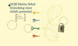 GCSE Maths 1Ma1: