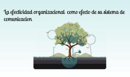 La efectividad organizacional como efecto de su sistema de comunicacion