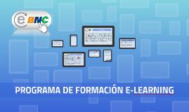PROGRAMA DE FORMACIÓN E-LEARNING