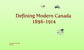Defining Modern Canada
