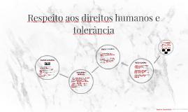 3 ano - 4 Bim - aula 4 - Respeito aos direitos humanos e tolerância