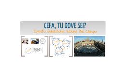 Off-line - Forme di comunicazione innovative per il no-profit e per la cooperazione - CEFA, TU DOVE SEI 2012