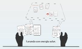 Lavando con energia solar.