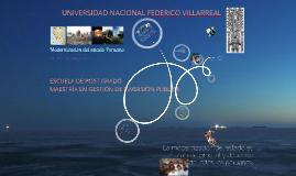 UNFV - MAESTRIA GESTIÓN DE INVERSIÓN PÚBLICA - Modernización del estado Peruano