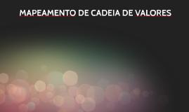 MAPEAMENTO DE CADEIA DE VALORES