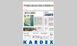 KARDEX O AUXILIAR DE CUENTAS DE INVENTARIO