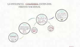 LA VIOLENCIA - COLOMBIA ANTES DEL FRENTE NACIONAL