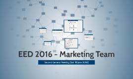 EED 2016 - Marketing Team