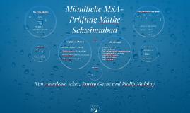 Schriftliche MSA-