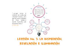 Lección 3: Inspiración, Revelación e Iluminación