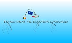 Do you speak the european language