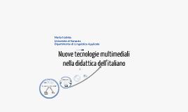 Copy of Nuove tecnologie multimediali nella didattica dell'italiano