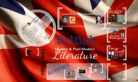 Copy of British Modern & Post-Modern Literature