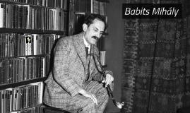 Babits Mihály élete - feladat