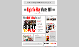 Right To Play Wants YOU