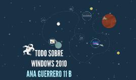 TODO SOBRE WINDOWS 2010