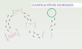 CLASIFICACÓN DE SOCIEDADES