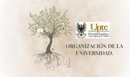 ORGANIZACIÓN DE LA UNIVERSIDAD