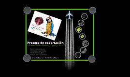 Copy of Proceso de exportación