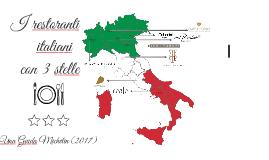 Copy of I restoranti italiani con tre stars michelin