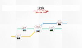 The landscape of Usk
