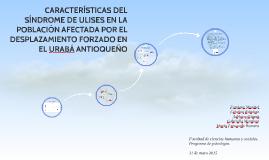 CARACTERÍSTICAS DEL SINDROME DE ULISES LA POBLACIÓN AFECTADA