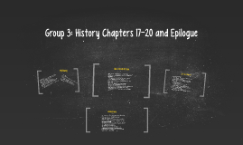 Group 3: History Chapters 17-20 and Epilogue