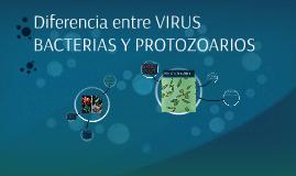 Diferencia entre VIRUS BACTERIAS Y PROTOZOARIOS