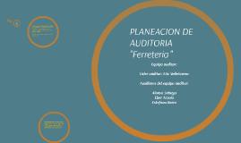 PLANEACION DE  AUDITORIA